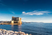 Castle  dell'Ovo and Naples Bay — Stock Photo