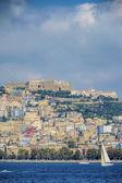Naples seaside vertical view — Stock Photo