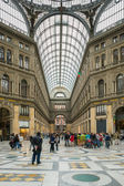 Gallery Umberto and people shopping, Naples, Italy — Stock Photo