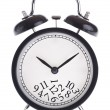 Alarm clock with a bunch of numbers on the dial — Stock Photo
