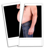 Photo fat man — Stock Photo