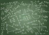 Wzory matematyczne — Wektor stockowy