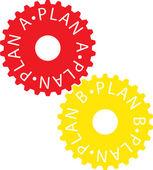 Plan a-paln b — Stock Vector
