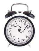 ツイスト矢印付き目覚まし時計 — ストック写真