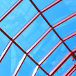 The glass roof structure - Stock Photo