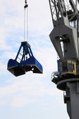 Blue port crane terminal seaport — Stock Photo