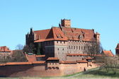 Malbork castle in Pomerania region of Poland. — Stock Photo