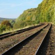 Rail Road Tracks - outdoor - Stock Photo