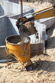 Construction site digger, excavator — Stock Photo