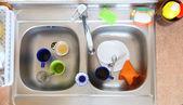 Mycia miski w kubek kuchnia — Zdjęcie stockowe