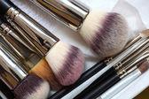 Make-up brushes - beauty treatment — Stock Photo