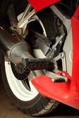 Motorcykel motor detaljer — Stockfoto