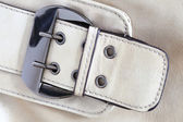 Leather briefcase buckle bag background — Stock Photo
