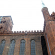 St. Mary's Basilica brick church Gdansk, Poland — Stock Photo