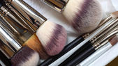 Make-up brushes - beauty treatment — Stock Photo