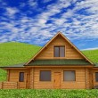 Wooden house, dream home — Stock Photo