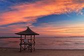 Beautiful sky of sunset on the beach — Stock Photo