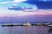 Yachts on the marina — Stock Photo