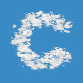Cloud letter C — Stock fotografie
