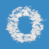 Cloud letter O — Stock Photo