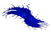 Blue splash — Stock Photo