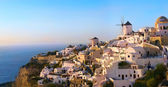Santorini Oia sunset — Stock Photo