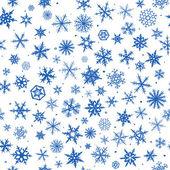 シームレスな雪片 — ストックベクタ