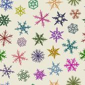 Sömlös snöflingor — Stockvektor