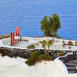 Cafe on Santorini — Stock Photo