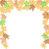 Autumn border — Stock Vector