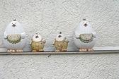 Kuřecí rodina — Stock fotografie