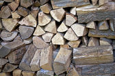 Detail of a woodpile — Stock Photo