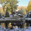 Foto Stock: First snow