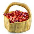 Stock Photo: Basket of christmas pralines