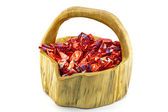 A basket of christmas pralines — Stock Photo