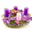 Foto Stock: Advent wreath