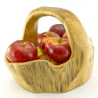 Stock Photo: Basket of red apples
