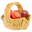 Stock Photo: Basket of apples