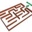 Stock Vector: 3d maze success concept
