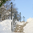 Stock Photo: Winter stairway