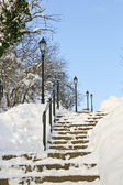 Winter stairway — Stock Photo