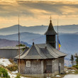 Wooden church in mountain — Stock Photo #12092627