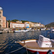 Old fishing port on sea — Stock Photo