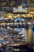 Monaco port at night — Stock Photo