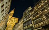 Strasbourg cathedral at night — Stock Photo