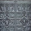 Old cathedral door — Stockfoto