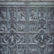 Old cathedral door — Stock Photo
