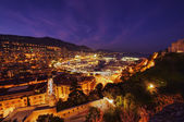 View of Monaco at night — Stock Photo