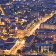 City at night, Romania — Stock Photo