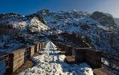Alps street in mountain — Stock Photo